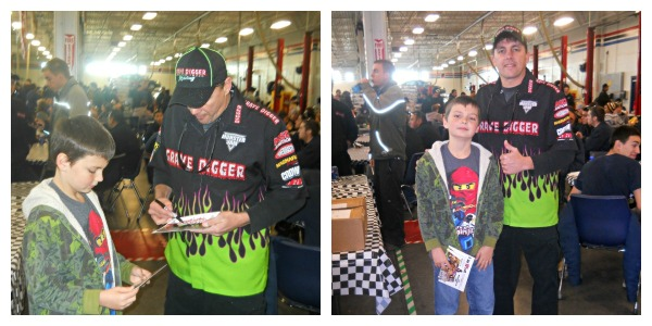 Autographs with Grave Digger Driver