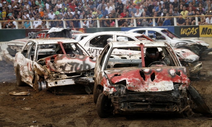 Demolition Derby at the California State Fair