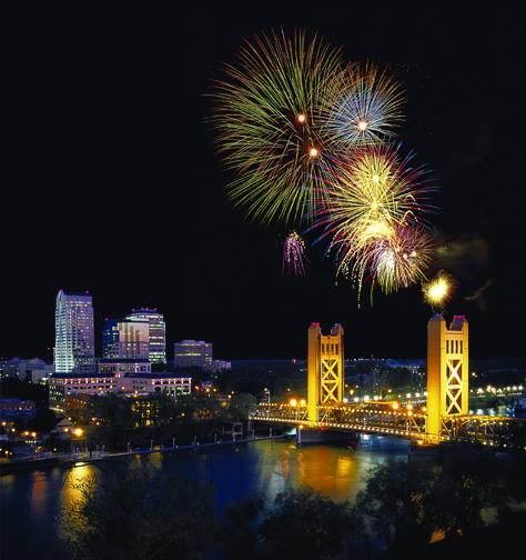 Fireworks in Sacramento